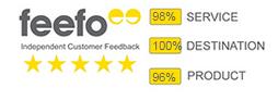 Feefo ratings
