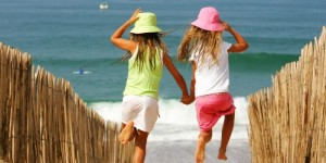 Aquitaine beach for kids