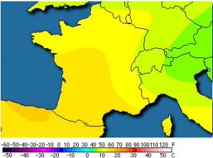 Weather chart France
