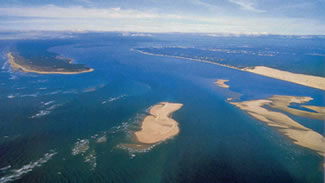 Bassin d'Arcachon aerial view