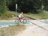 Safe cycle paths for family bike rides