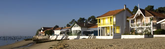 Traditional beach houses at l'Herbe