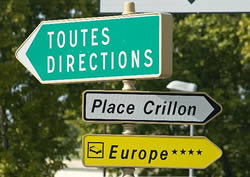 French towns have a plethora of signposts