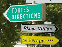 Signposts in French towns are plentiful!