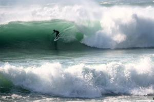 Winter surfing in Sagres Portugal