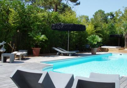 Luxury walk to beach villa heated pool Arcachon