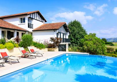 biarritz villas with pools, France | Villa Souraide