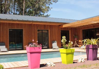 Moliets heated pool villa