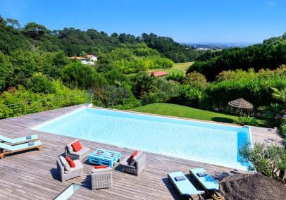 biarritz villas with pools, France | Villa La Canopee