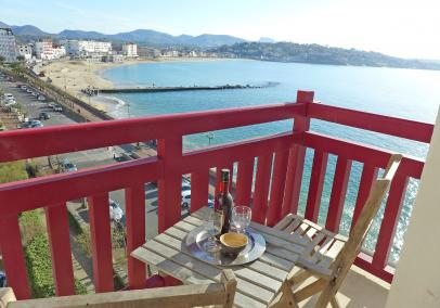 St Jean de Luz bay view apartment