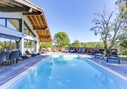 Luxury Moliets villa pool hot tub sauna