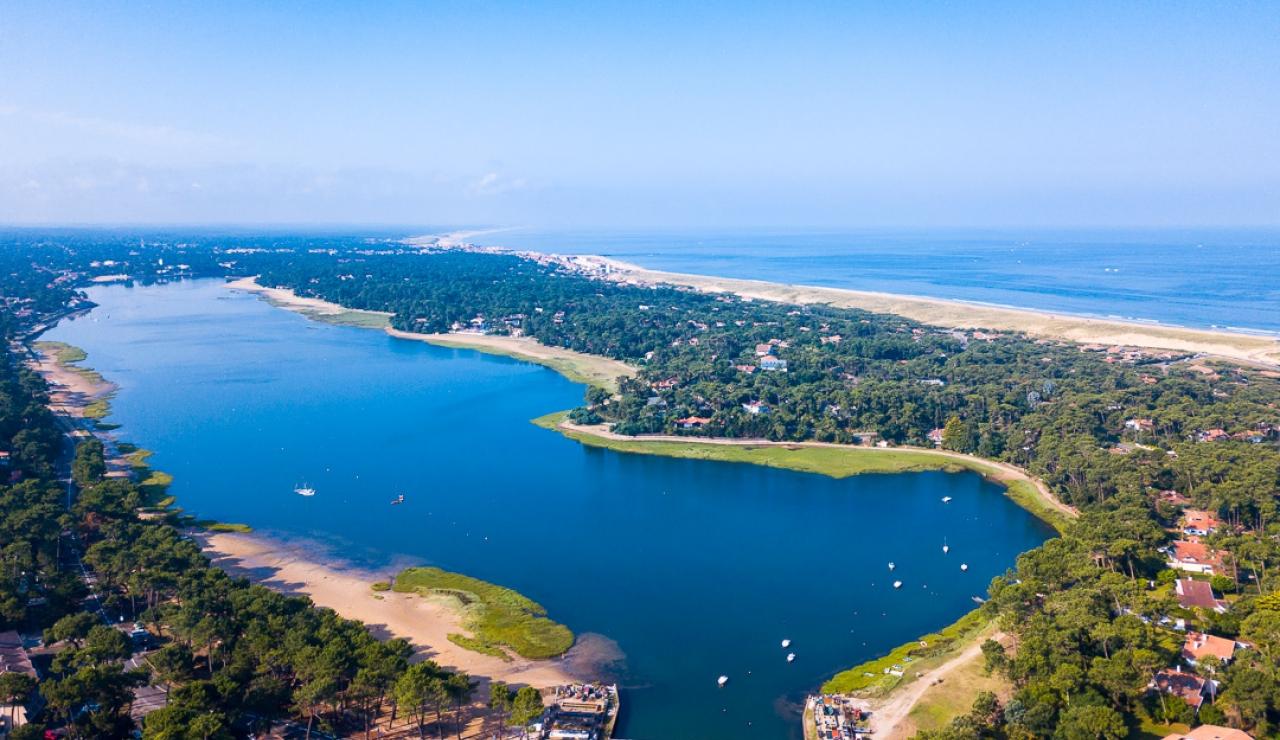 hossegor-lake-drone-view